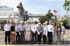 中国驻新泻总领事参观北越株式会社新泻工厂